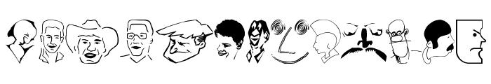 CartoonHeads Font LOWERCASE