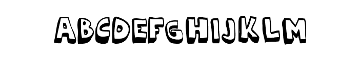 Cartoonia_3D Font LOWERCASE