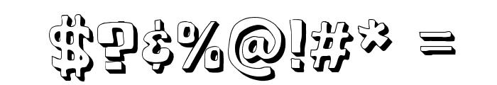 Cartoonic Massive 3D Font OTHER CHARS