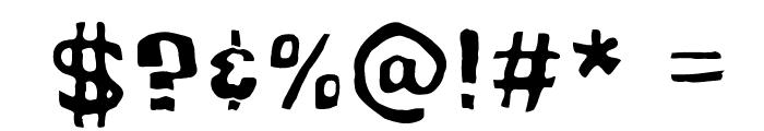 Cartoonic Massive Wacky Font OTHER CHARS