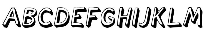 Cartoonish Italic Font UPPERCASE