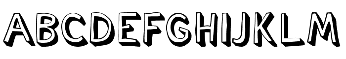 Cartoonish Font UPPERCASE