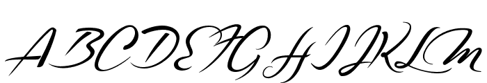 Casablanca Noir Personal Use Regular Font UPPERCASE