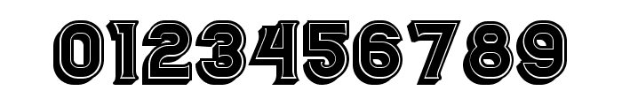 Casino 3D Filled Regular Font OTHER CHARS