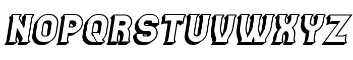 Casino 3D Italic Font UPPERCASE