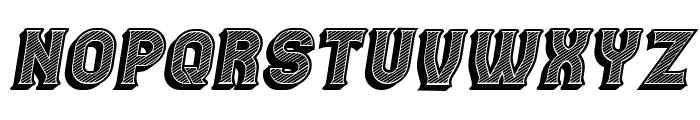 Casino 3D Lines Italic Font UPPERCASE
