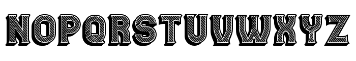 Casino 3D Lines Regular Font UPPERCASE