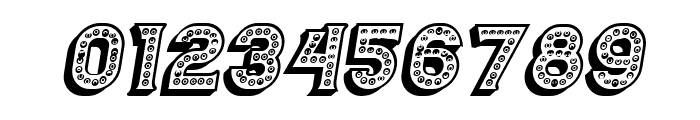 Casino 3D Marquee Italic Font OTHER CHARS