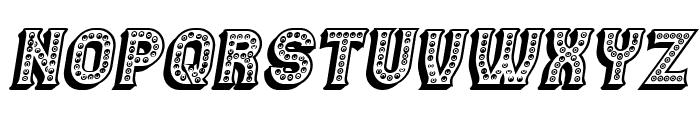 Casino 3D Marquee Italic Font UPPERCASE