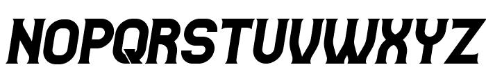 Casino Flat Italic Font UPPERCASE