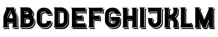 Casino Flat Shadow Regular Font UPPERCASE