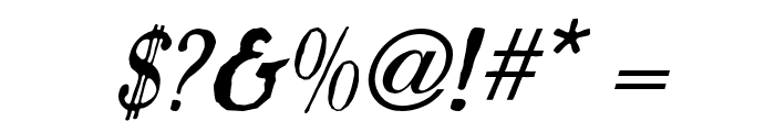 Caslon Antique Italic Font OTHER CHARS