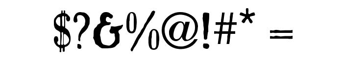 Caslon Antique Font OTHER CHARS