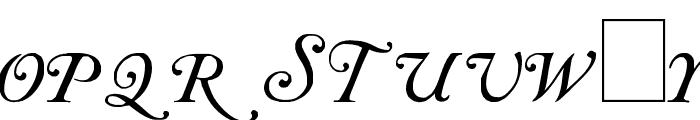Caslon Initials Font UPPERCASE