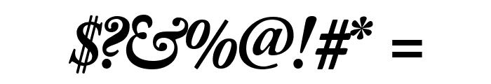 CaslonBlackSSK Italic Font OTHER CHARS