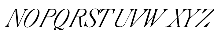 CaslonItalic Font UPPERCASE