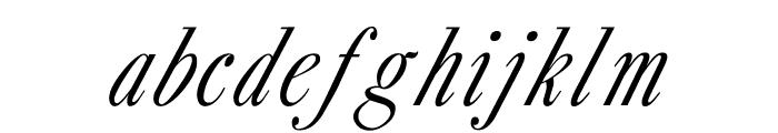 CaslonItalic Font LOWERCASE