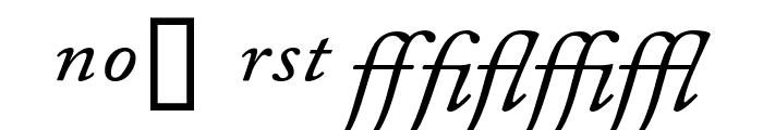 CaslonProSSK Italic Font UPPERCASE