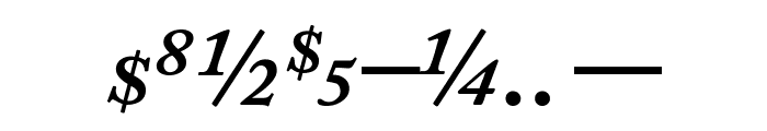 CaslonProSSK SemiBoldItalic Font OTHER CHARS