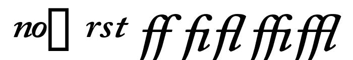 CaslonProSSK SemiBoldItalic Font UPPERCASE