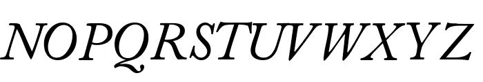 CaslonSSK Italic Font UPPERCASE