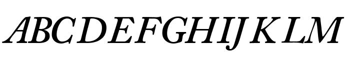 CaslonSSK SemiBoldItalic Font UPPERCASE