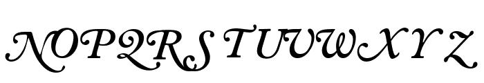 CaslonSwashSCapsSSK SemiBoldItalic Font LOWERCASE