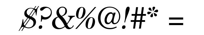 CaslonTwoSSK Italic Font OTHER CHARS