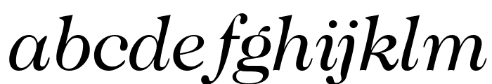 CaslonTwoSSK Italic Font LOWERCASE