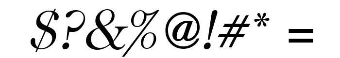 CaslonUT LightItalic Font OTHER CHARS