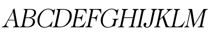 CaslonUT LightItalic Font UPPERCASE