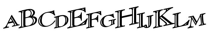 CasqueOpenFaceWacky Bold Font UPPERCASE