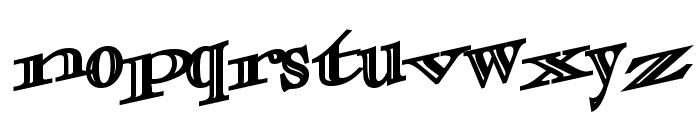 CasqueOpenFaceWacky Bold Font LOWERCASE