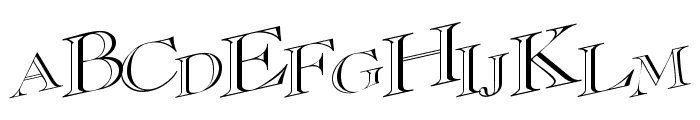 CasqueOpenFaceWacky Font UPPERCASE