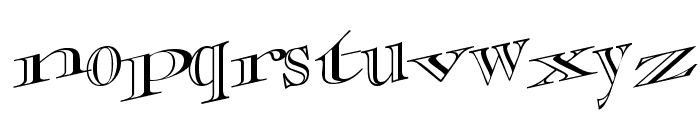 CasqueOpenFaceWacky Font LOWERCASE