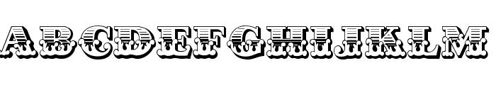 Cast Iron Font UPPERCASE