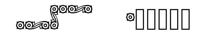CastlePressNo2 border Font UPPERCASE