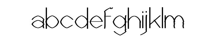 Castorgate - Rough Font LOWERCASE