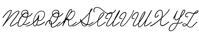 Castro Script PERSONAL USE ONLY Font UPPERCASE