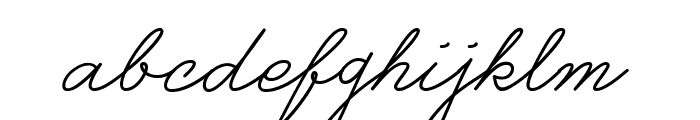 Castro Script PERSONAL USE ONLY Font LOWERCASE