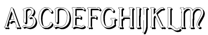 Casua_Shadow Font UPPERCASE