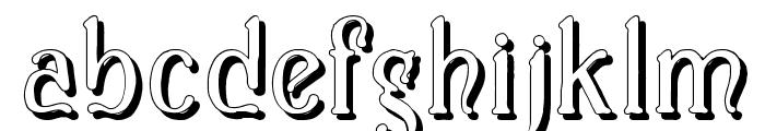 Casua_Shadow Font LOWERCASE