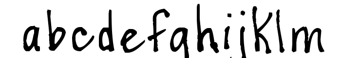 Casual Perfectionist Font LOWERCASE