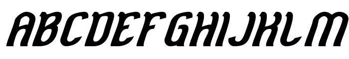 Cat Eyes Bold Italic Font UPPERCASE