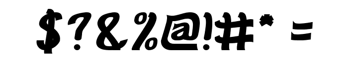 Cat Eyes Bold Font OTHER CHARS