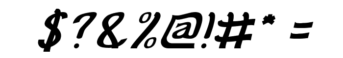 Cat Eyes Italic Font OTHER CHARS