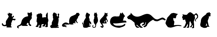 Cat Silhouettes Font UPPERCASE