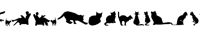 Cat Silhouettes Font LOWERCASE