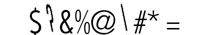 CatScratch Thin Rev Italic Font OTHER CHARS