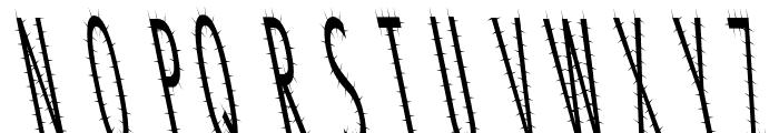 CatScratch Thin Rev Italic Font UPPERCASE